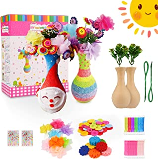 Bukm Flower Craft Kit for Kids, Kids Arts and Crafts, Make Your Own Flower Vase Art Toy, Crafts for Girls & Boys Ages 4-8,...