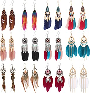 Earrings Western Design Hand Threaded Barrel Racer Dangle Large Teardrops