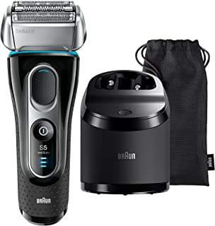 Braun Series 5 5197cc Men's Rechargeable Foil Electric Shaver with Clean and Charge System, Black, 1.1 kilograms