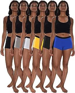Women's 6 & 12 Pack Modern Active Boy Short Boxer Brief Panties