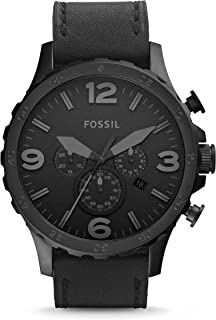 Fossil Men's Nate Quartz Stainless Steel and Leather...