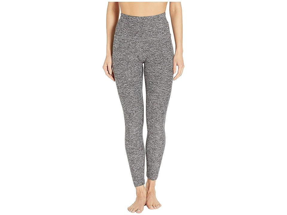 Beyond Yoga Spacedye High-Waist Midi Leggings (Black/White) Women