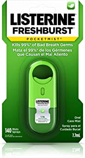 Listerine Freshburst Pocketmist Fresh Breath Oral Care Mist, Non-Aerosol Sugar-Free Minty Breath Refresher Spray to Kill 9...