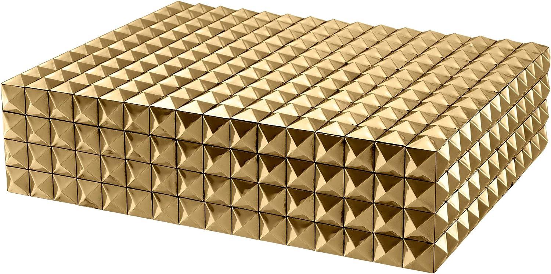 Amazon Com Gold Decorative Jewelry Box L Eichholtz Vivienne Storage Box Modern Luxury Home Decor Accessories Home Kitchen