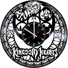 Video Game Kingdom Hearts Vinyl Clock, Art Handmade Gift Idea for Any Occasion, Original Home Room Kitchen Decor, Vintage Modern Style Theme