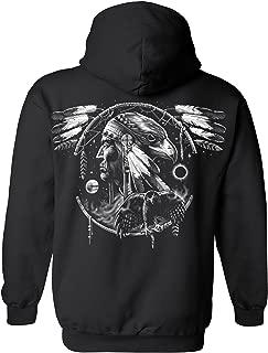 Unisex Zip Up Hoodie Dreamcatcher Native American Hawk