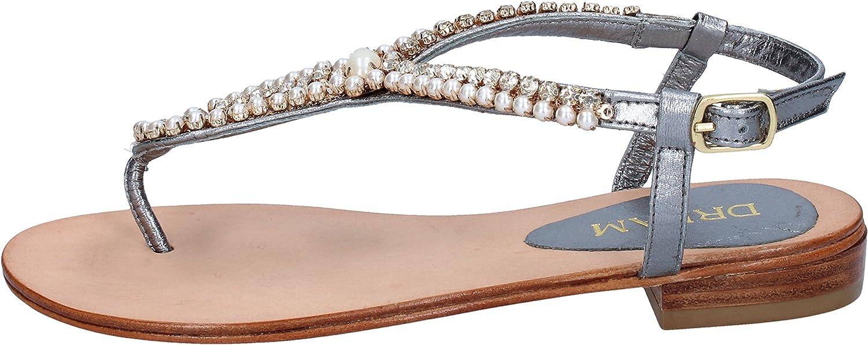 QueenDream Dream Sandals Womens Leather Grey