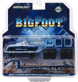 Greenlight 1974 Ford F-250 Bigfoot #1 The Original Monster Truck (1979) W/Gooseneck Trailer & Regular & Replacement 66