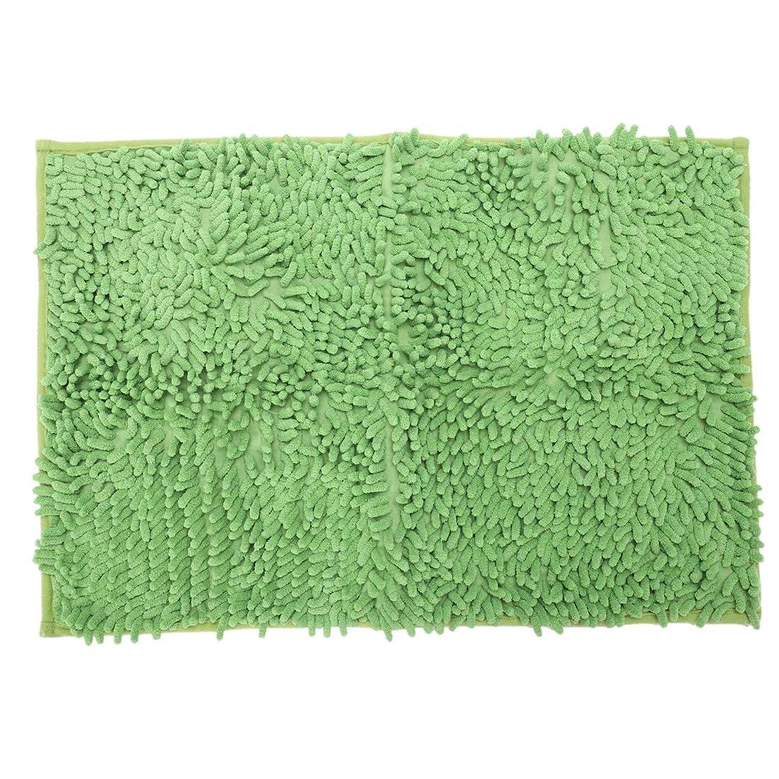 ブランチイースター信じるCUHAWUDBA ソフトなふわふわのすべり止め 吸収性バスマット シャワーマット 40 x 60cm (緑)