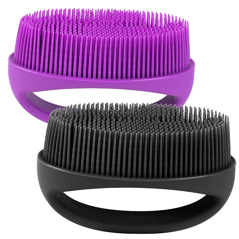 HEETA Hand-Held Limited time sale Body Bargain Shower Brush Soft Silicone Scru 2-Pack