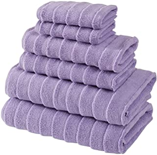 Bagno Milano Turkish Spa Towel Set, Non-GMO Turkish Cotton   Velvety Soft & Ultra-Absorbent (Lilac, 6 pcs Towel Set)