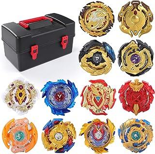 12 Pack Burst Battle Gyros Set, Exercise N Play Burst Spinning Battle Tops Gaming Toys for Boys Kids Children 8+ Years