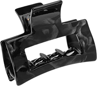 France Luxe Cutout Rectangle Jaw - Nacro Black