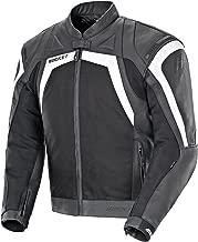 Joe Rocket Meta-X Men's Leather Motorcycle Jacket (Black/White, Size 44)