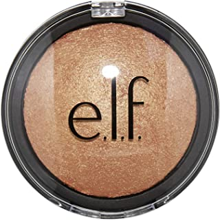 e.l.f. Cosmetics Baked Highlighter Illuminating Face Makeup, Apricot Glow, 0.17 Ounce Compact