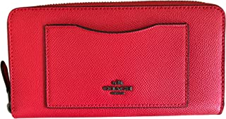 Crossgrain Leather Accordian Zip Wallet, Poppy