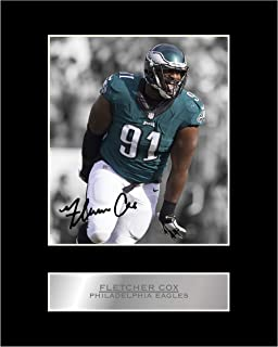 Fletcher Cox Signed Mounted Photo Display Philadelphia Eagles #05 NFL Printed Autograph Gift Picture Print