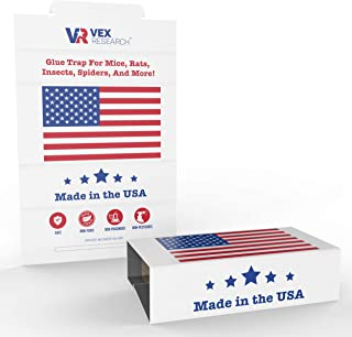 Vex Research 2019 5 Pack Mouse Glue Traps are a Sticky Solution to a Nasty Problem. Great for catching Mice, Rat, Insect, Spider, Lizard, Snake, Cockroach, Bed Bug, and Scorpion. Made in The USA!