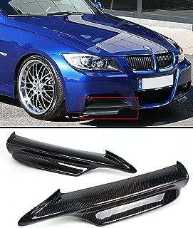 Carbon Fiber Front Bumper Splitter Fits for 2006-2008 BMW E90 E91 3 Series W/M Sport Tech Bumper Only