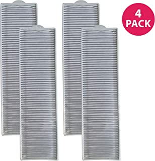 Crucial Vacuum Replacement Filter Part Compatible with Bissell Filter Style 8 & 14, Part 3091 2038093 203-6608 470856 FX HVF090-HEPA Style, Fits Vacs Momentum Velocity Bagless Upright, Bulk (4 Pack)