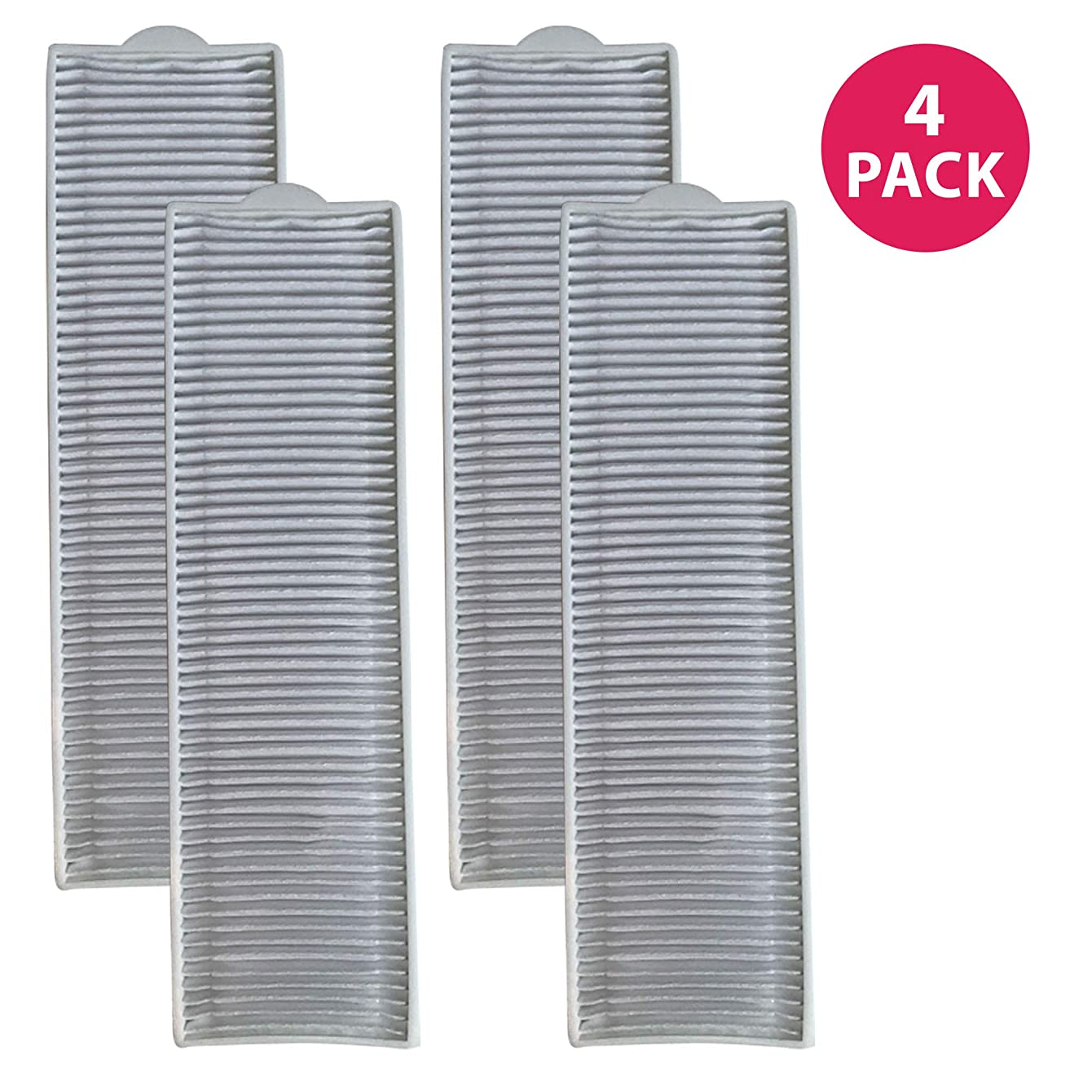 Crucial Vacuum Replacement Filter Parts Compatible with Bissell Filter 8 14, Part 3091 2038093 203-6608 470856 FX HVF090 - HEPA Style, Fits Vacs Momentum Velocity Bagless Upright, Bulk (4 Pack)