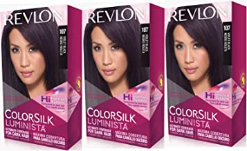 Revlon Colorsilk Luminista Haircolor, Violet Black, 3 Count