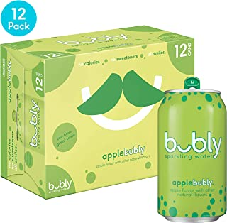 bubly Sparkling Water, Apple, 12 fl oz. cans (12 Pack)