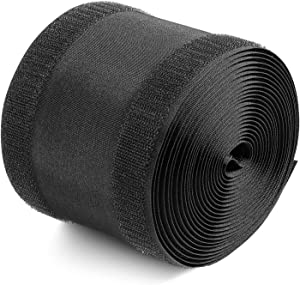 Black Cord Cover Floor Cable Cover Carpet Cord Cover Cable Protector Cable Management for Office Carpet, Keep Cable Organized and Protect Cords (4 Inch x 30 Feet)