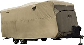 """ADCO by Covercraft 74844 Storage Lot Cover for Travel Trailer RV, Fits 26'1""""-28'6"""", Tan"""