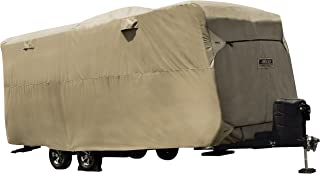 "ADCO by Covercraft 74843 Storage Lot Cover for Travel Trailer RV, Fits 24'1""-26', Tan"