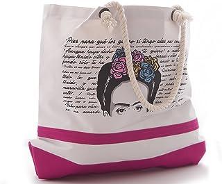 Bolsa de Playa Diseño Frida Rosa