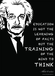 Albert Einstein Poster (18X24 LAMINATED) Albert Einstein Quotes Make Beautiful Science Decor (inspirational posters for cl...