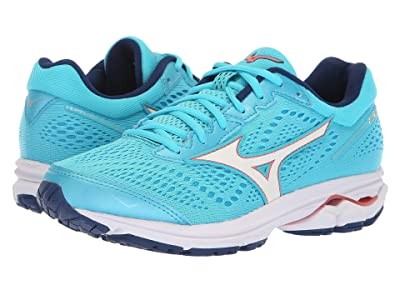 Mizuno Wave Rider 22 (Blue Atoll/Georgia Peach) Women