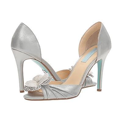 Blue by Betsey Johnson Emma (Silver Shimmer) High Heels