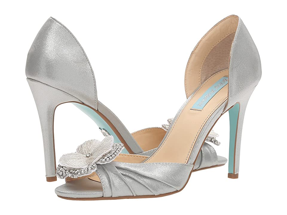Blue by Betsey Johnson Emma (Silver Shimmer) High Heels
