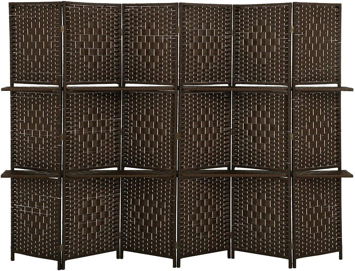Room Divider 6 Panel Regular store Screen P Wooden 2021 Folding