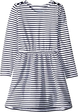 Stripe Knit Waisted Dress (Toddler/Little Kids/Big Kids)