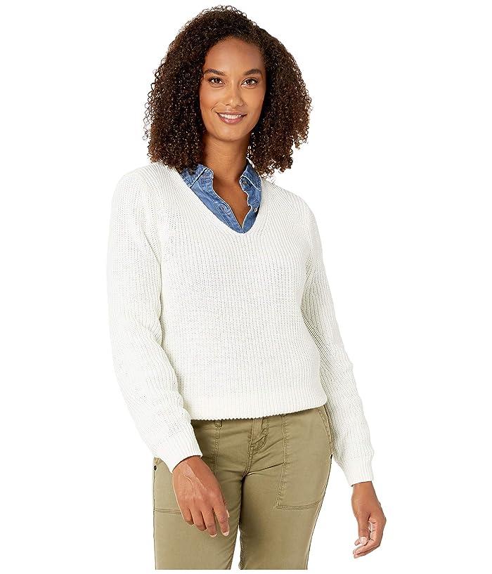 Neck Sweater (Antique White) Women's Sweater