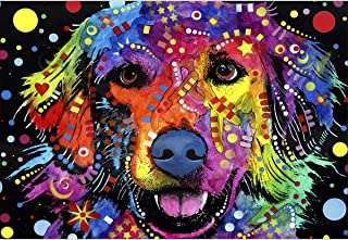 colourful labrador painting