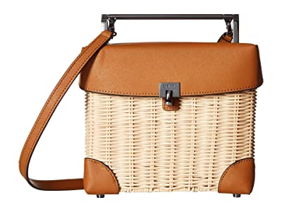 Botkier Lennox Straw Lunchbox (Maple) Cross Body Handbags