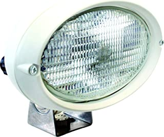 HELLA 996361131 '6361 Series' 12V DC Oval 100 Halogen Deck Light with White Housing