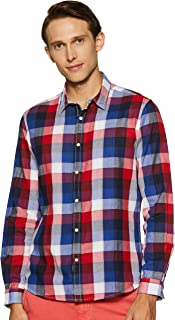 Pepe Jeans Men's Checkered Regular fit Casual Shirt