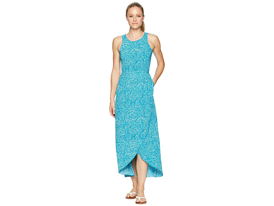 Toad&Co Sunkissed Maxi Dress (Deepwater Batik Floral Print) Women