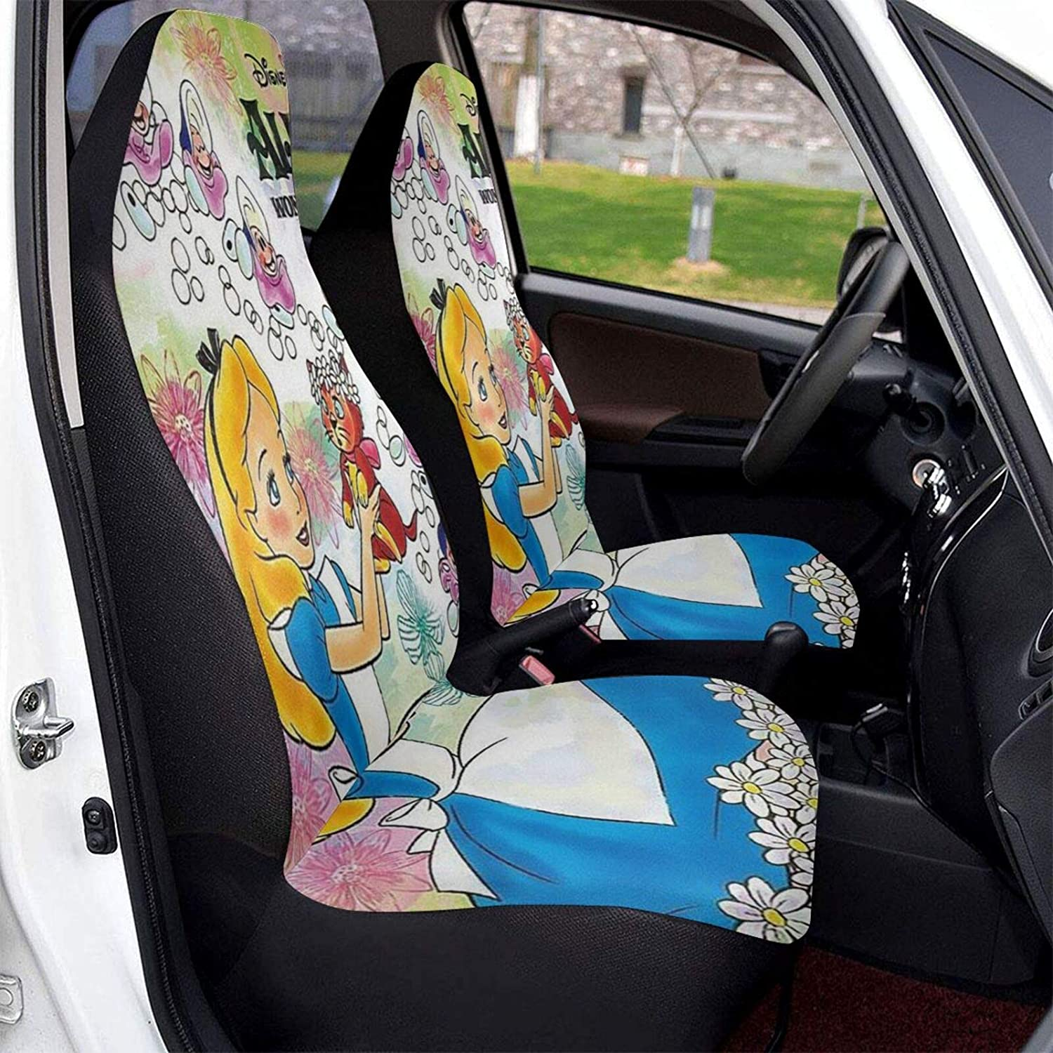Alice in Wonderland Front Seat Vehicle Washable Covers Finally resale start Seasonal Wrap Introduction Durable S