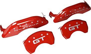 MGP Caliper Covers 10200S2MGRD, Compatible With Mustang and GT (2015), Red With Silver Characters, 4 Pack