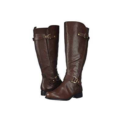 Naturalizer Jenelle Wide Calf (Brown Tumbled Leather) Women