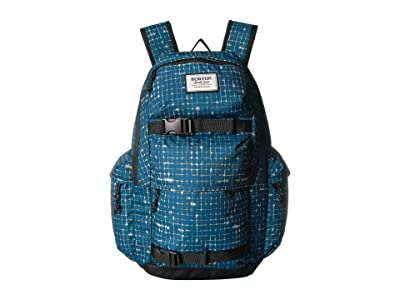 Burton Kilo Backpack (Blue Sapphire Ripstop Texture Print) Backpack Bags