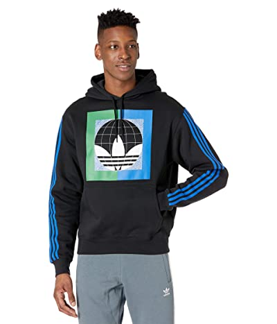 adidas Originals Globe Hoodie (Black/Blue) Men