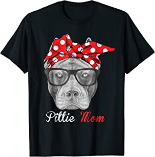 Pittie Mom Shirt for Pitbull Dog Lovers-Mothers Day Gift