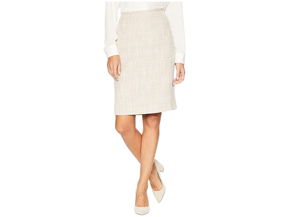 Calvin Klein Woven Skirt (Khaki/Cream) Women